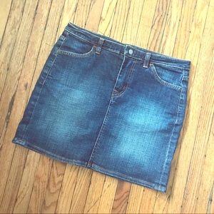 7 For All Mankind denim mini skirt size 27